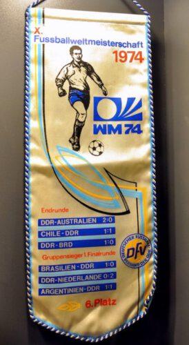 Vaantje met daarop de wedstrijden van de DDR tijdens het WK 1974