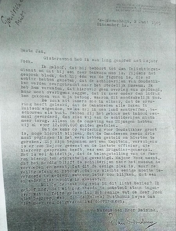De brief van J.P. van Swinderen aan mr. Jan Jolles
