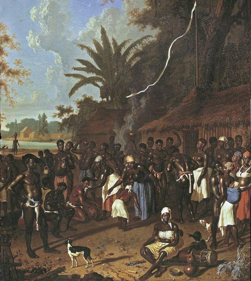 Dansfeest op een van de suikerplantages van Jonas Witsen, Dirk Valkenburg, 1708