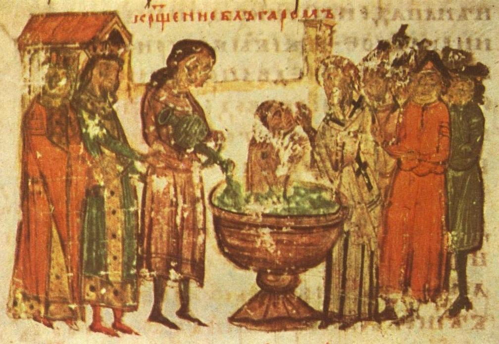 Doop van tsaar Boris I van Bulgarije