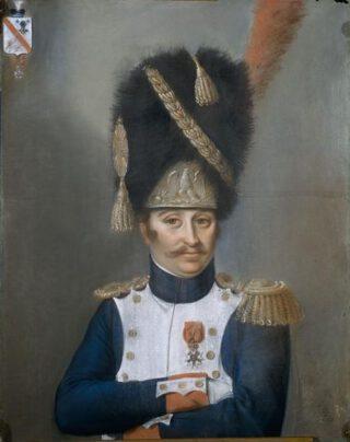 Officier van de Keizerlijke Garde van Napoleon Bonaparte met berenmuts