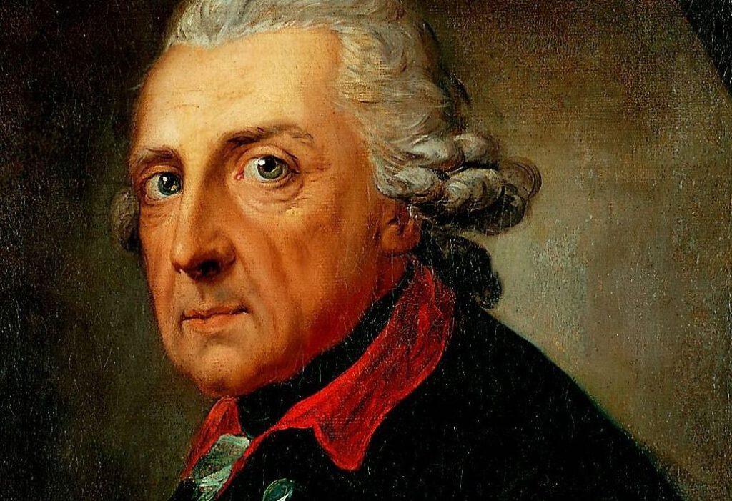 Frederik de Grote op 68-jarige leeftijd