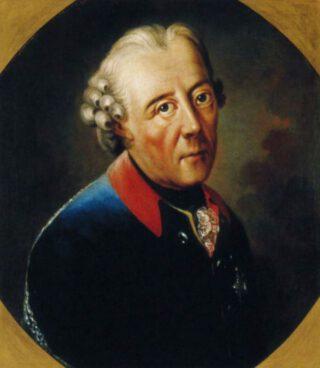 Frederik de Grote, ca. 1770 - Geportretteerd door Anna Dorothea Therbusch