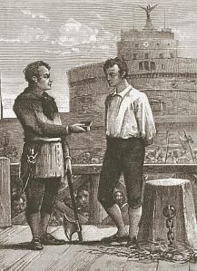 Giovanni Battista Bugatti kort voor een executie