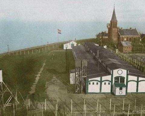 Interneringskamp Urk tijdens de Eerste Wereldoorlog (detail boekcover)