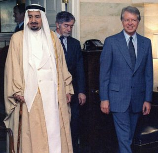 Jimmy Carter met koning Khalid van Saoedi-Arabië, 1978