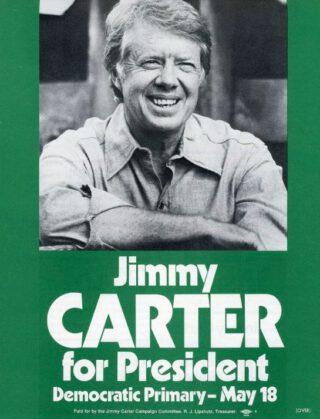 Jimmy Carter op een verkiezingsposter, 1976