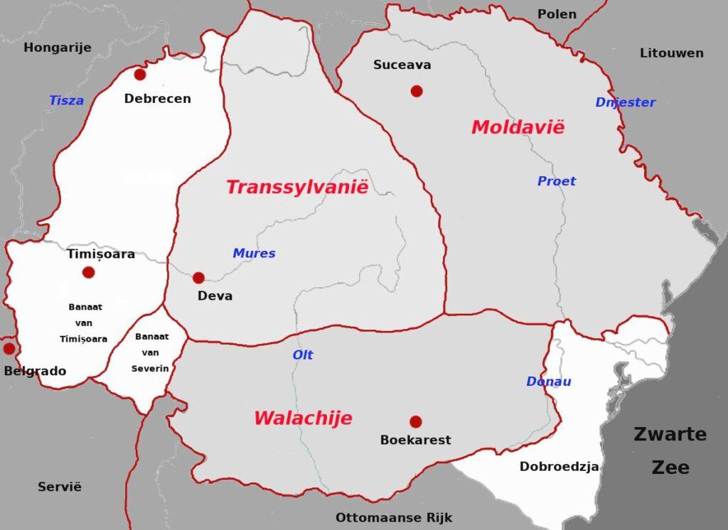 Moldavië, Walachije en Transsylvanië in de veertiende en vijftiende eeuw
