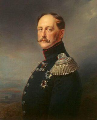 Nicolaas I van Rusland - Portret door Franz Krüger