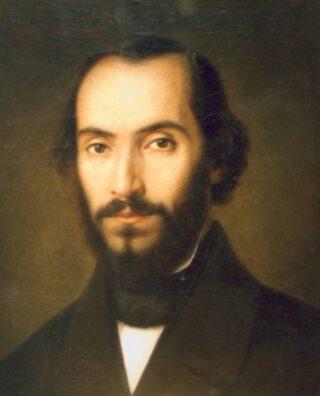 Nicolae Bălcescu in 1851 - Portret door Gheorghe Tattarescu