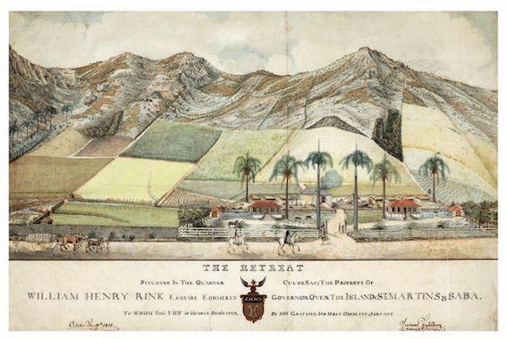 Plantage The Retreat in Cul de Sac Samuel Fahlberg, 1816