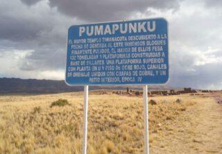 Informatiebord bij Pumapumku