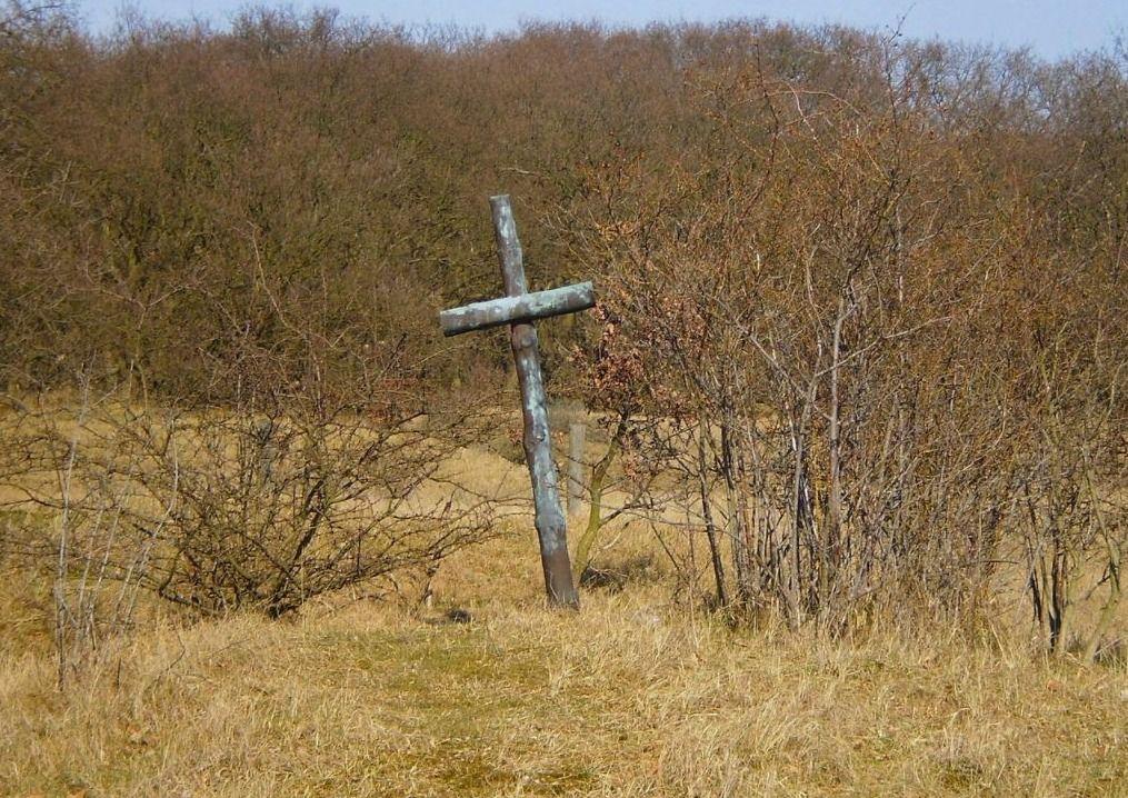 Het zogenoemde 'Rauterkruis' op de Waalsdorpervlakte, als gedenkmonument voor de fusillade daar na de aanslag op Rauter