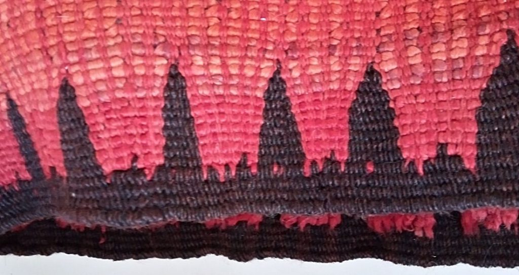 Rehamna-tapijt Detail. Zijdelingse rand