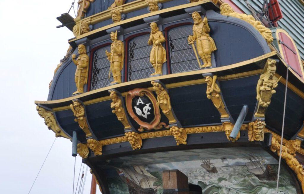 Replica van het VOC-spiegelretourschip Batavia, een vroeg-zeventiende-eeuws schip