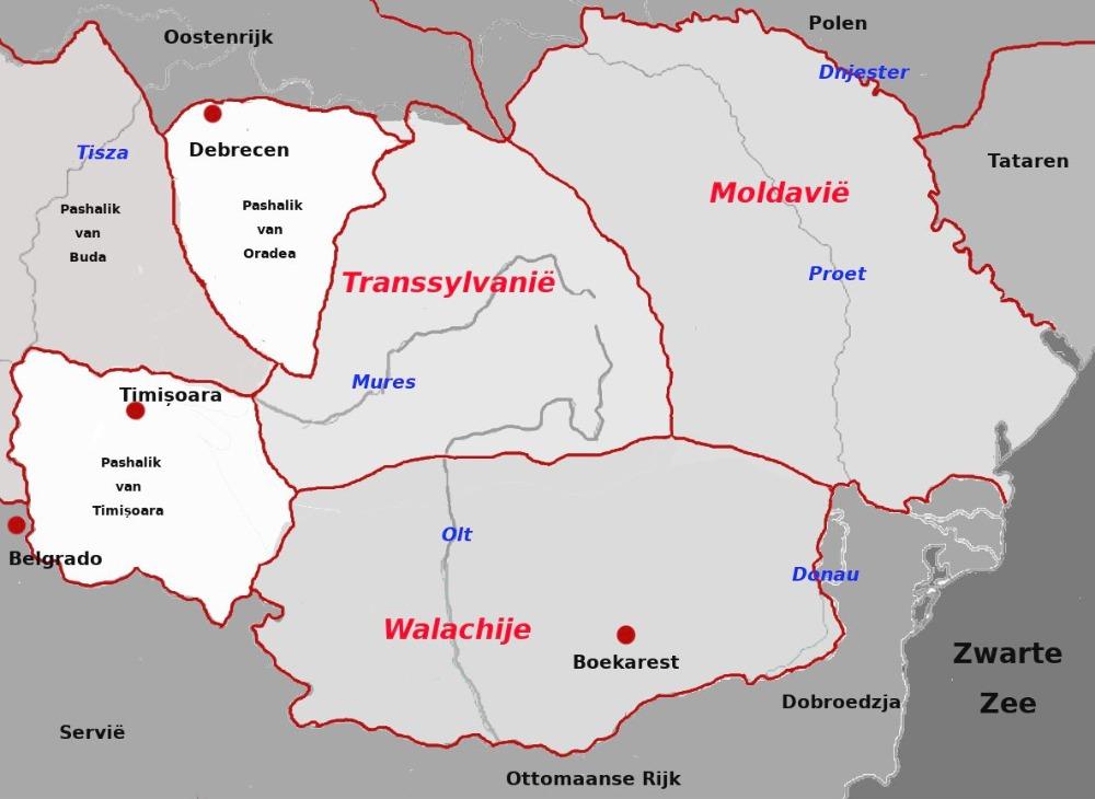 De Roemeense prinsdommen en Transsylvanië in de achttiende eeuw