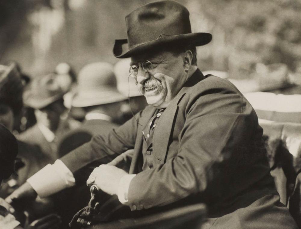 Roosevelt kort na zijn vertrek uit het Witte Huis, oktober 1910