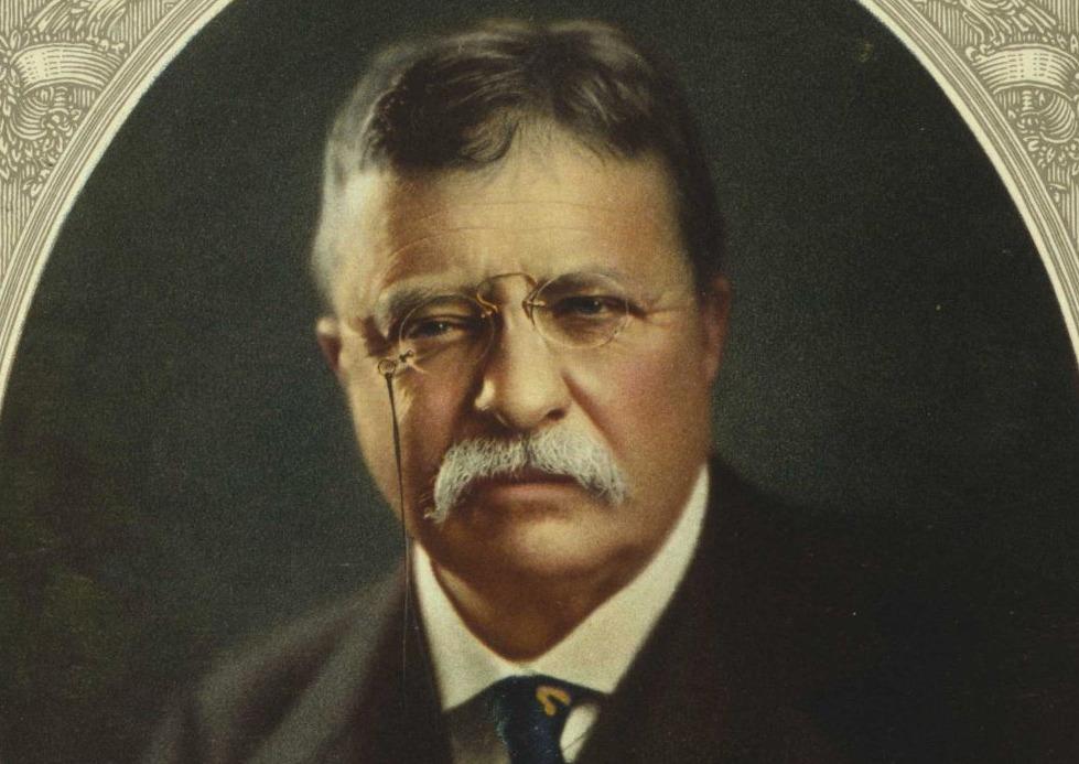 Kleurenportret van Theodore Roosevelt