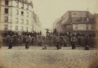 Commune van Parijs - Barricade van de communards, 18 maart 1871