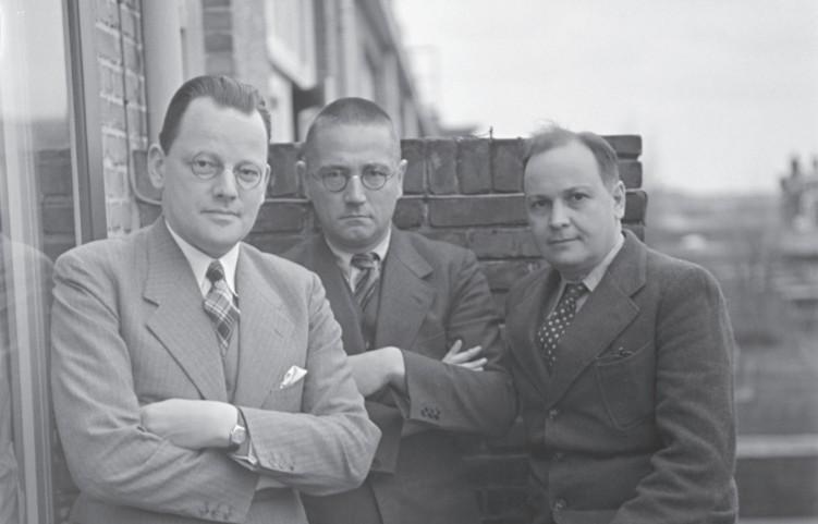 Menno ter Braak, Simon Vestdijk en Eddy du Perron