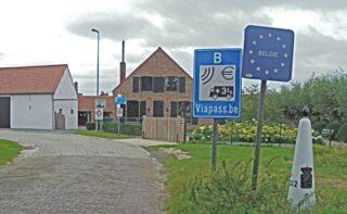 De grensovergang van Nederland naar België - ter hoogte van Middelburg