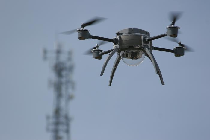Aeryon Scout, een kleine quadcopter