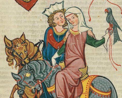 Afbeelding uit de Codex Manesse - Herr Werner von Teufen