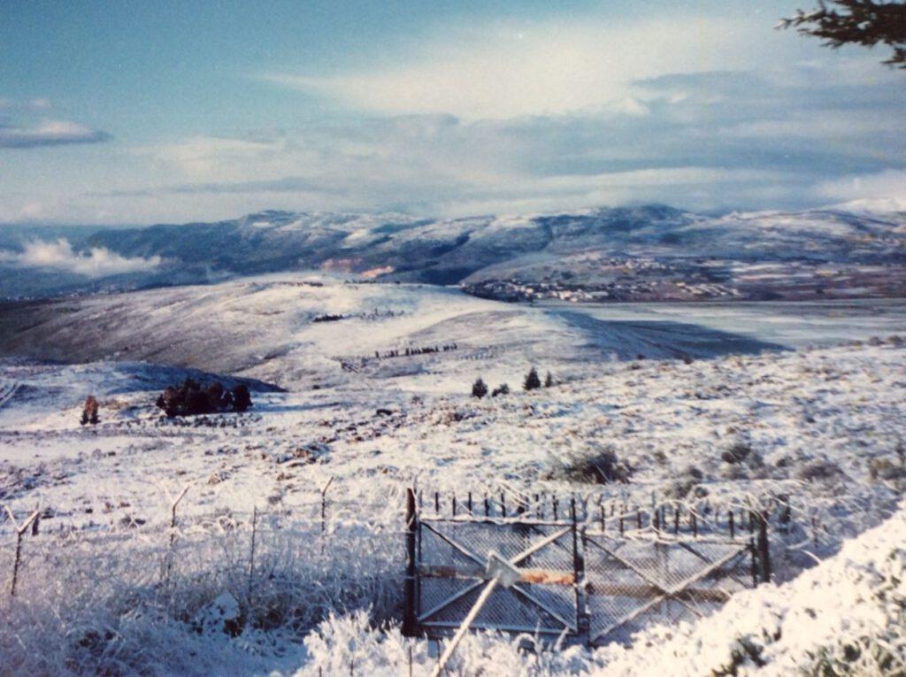 De Hula-vallei in Israel gezien vanaf OP Khiam. Bron: Privécollectie Albert Vinke