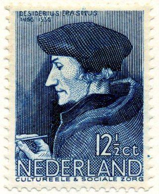 Postzegel van Desiderius Erasmus, zomer 1936