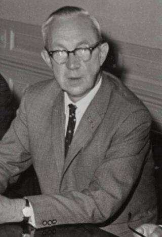 Gerrit Jan Lammers. Deze foto stamt uit 1968 toen hij directeur was van de Rijksvoorlichtingsdienst.