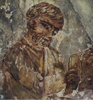 Joodse geleerde met boekrol (Catacombe van Petrus en Marcellus)
