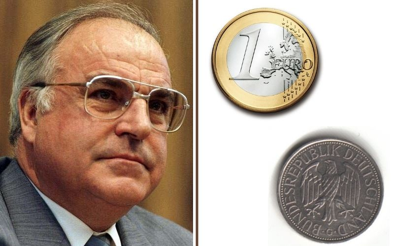 Helmut Kohl en de euro