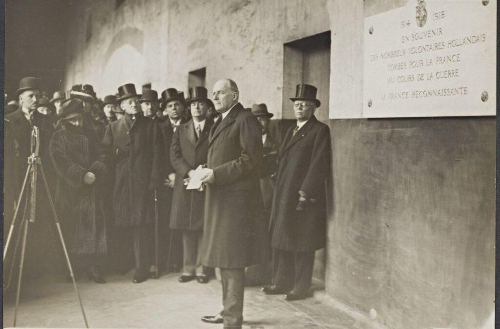 Minister John Loudon tijdens een toespraak in 1931