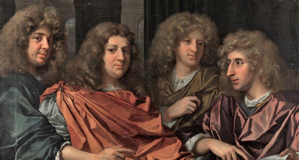 Monogrammist GF, Groepsportret van vier kunstenaars (detail), Rijksmuseum Amsterdam