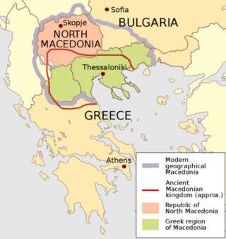 De verschillende Macedonië's op de kaart