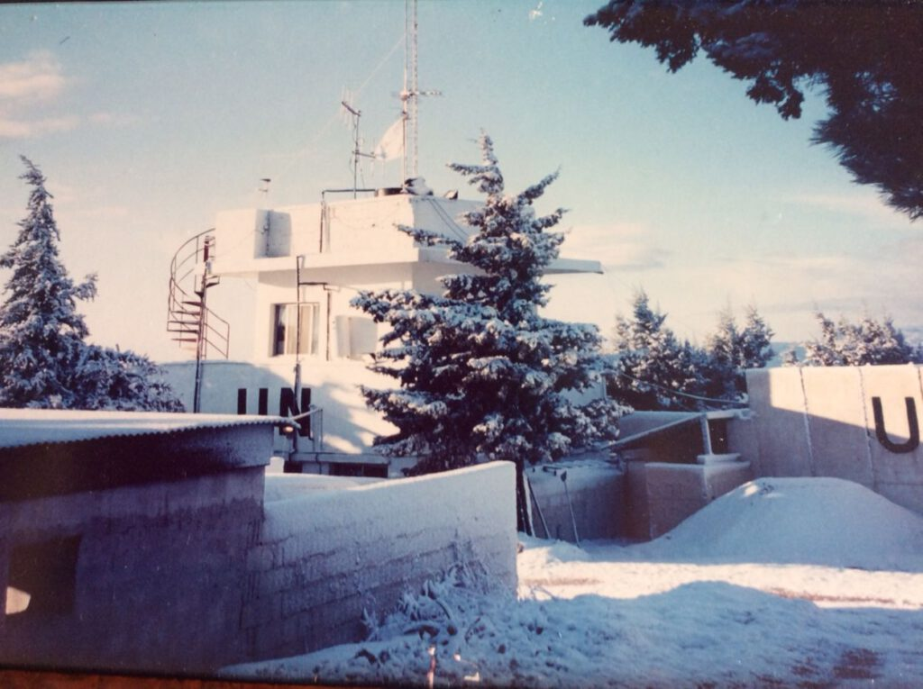 OP Khiam in de winter.