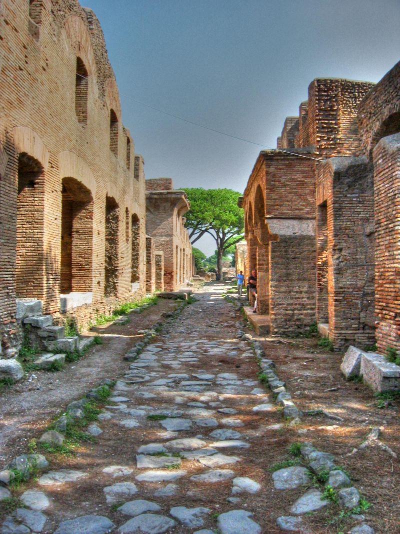 Straat in Ostia