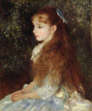 Petite fille au ruban bleu - Pierre-Auguste Renoir, 1880