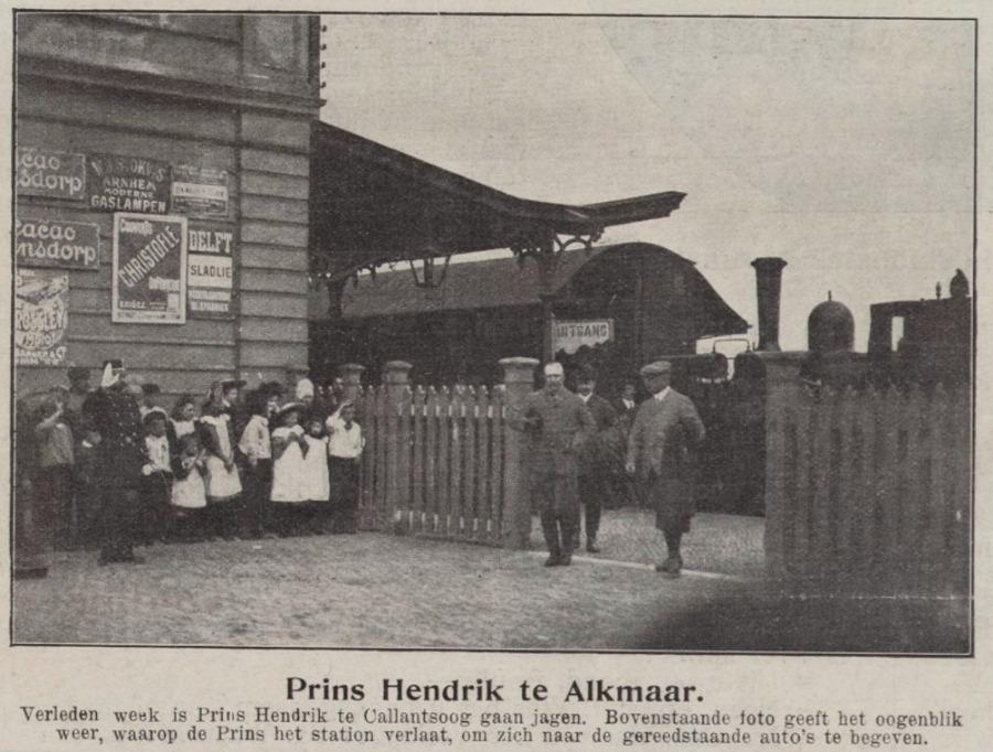 Prins Hendrik komt aan in Alkmaar (Regionaal Archief Alkmaar)