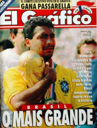 Romario met de wereldbeker, 1994