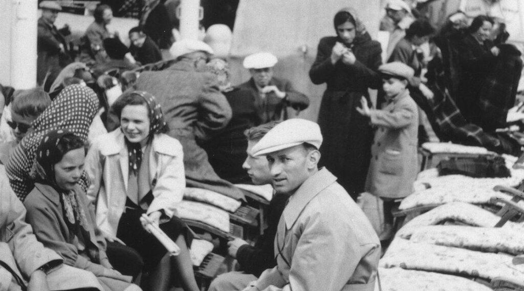 Passagiers aan boord van de St. Louis, 1939