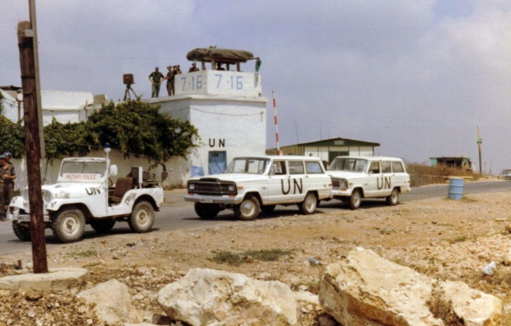 UNIFIL-checkpoint in Zuid-Libanon