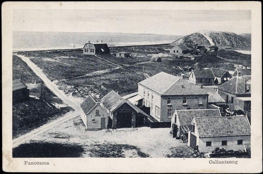 Uitzicht op Callantsoog vanuit de Groote Villa – Historische Vereniging Callantsoog