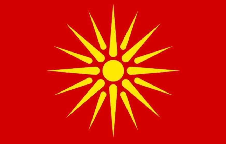 Vlag van de voormalige Joegoslavische Republiek Macedonië in de jaren 1992-95