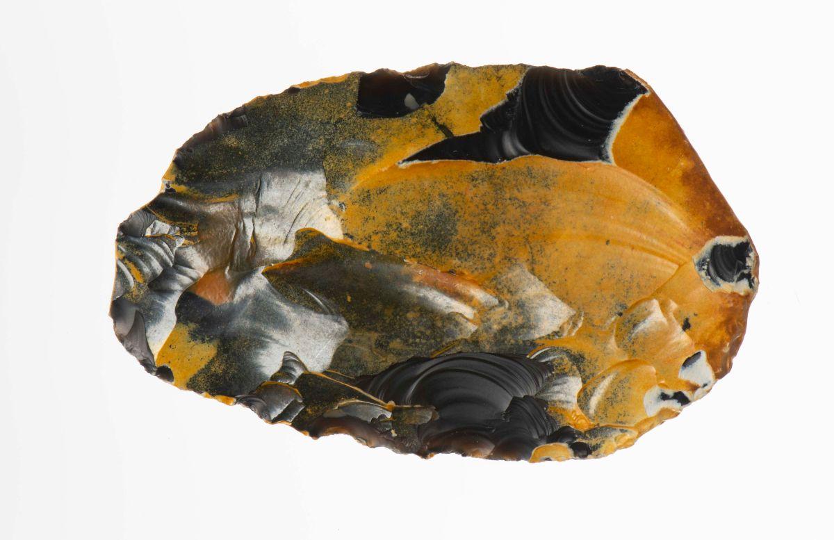 Vuurstenen 'schaaf', 80.000-50.000 jaar oud | Foto © Rijksmuseum van Oudheden