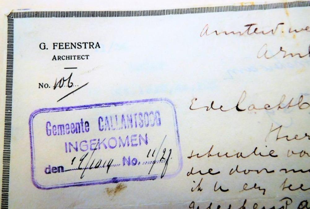 Brief van Feenstra