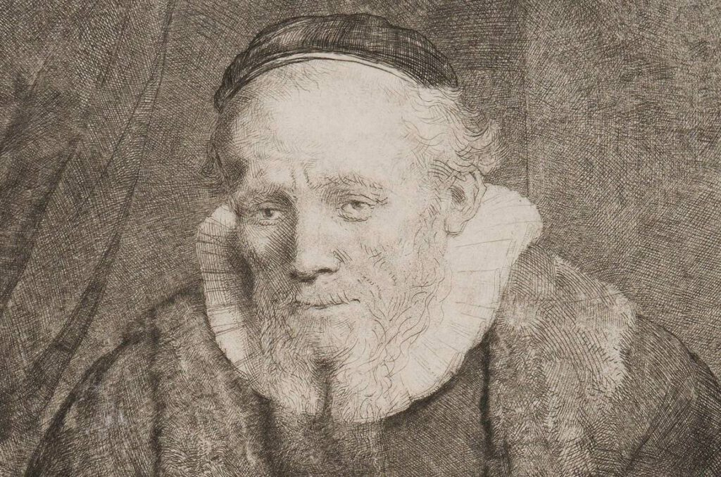 Rembrandt van Rijn, De predikant Jan Cornelisz Sylvius (1564-1638), 1646 - Detail (