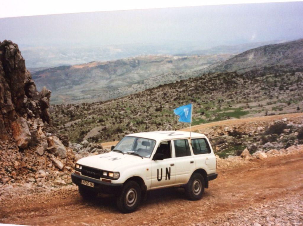 Patrouille in het grensgebied Libanon-Syrië-Israel. Bron: Privécollectie Albert Vinke.