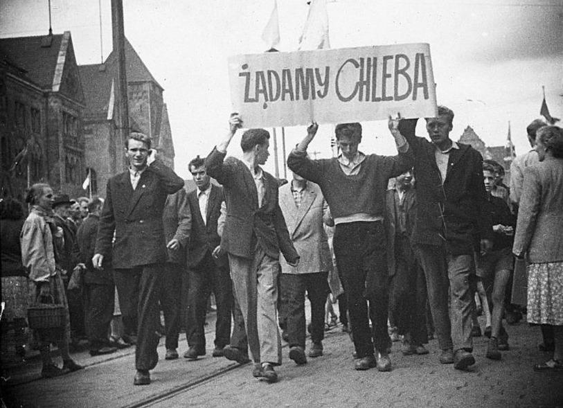 Protestmars voor brood, Polen 1956