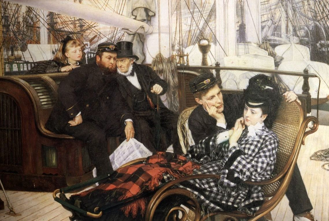 'De laatste avond', James Jacques Joseph Tissot, 1873. Guildhall Art Gallery, Londen.